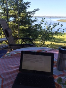 office on my deck