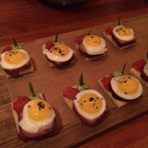 our quail eggs on toast